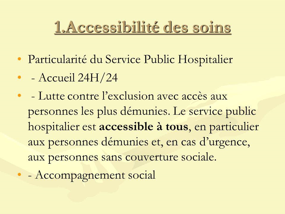 1.Accessibilité des soins