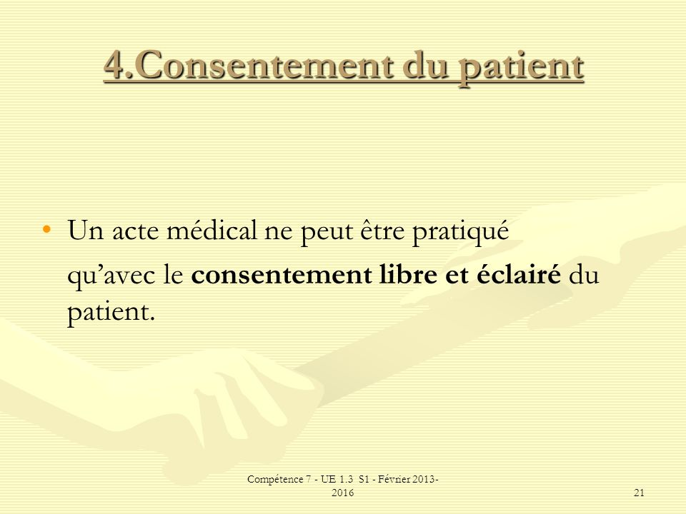 4.Consentement du patient