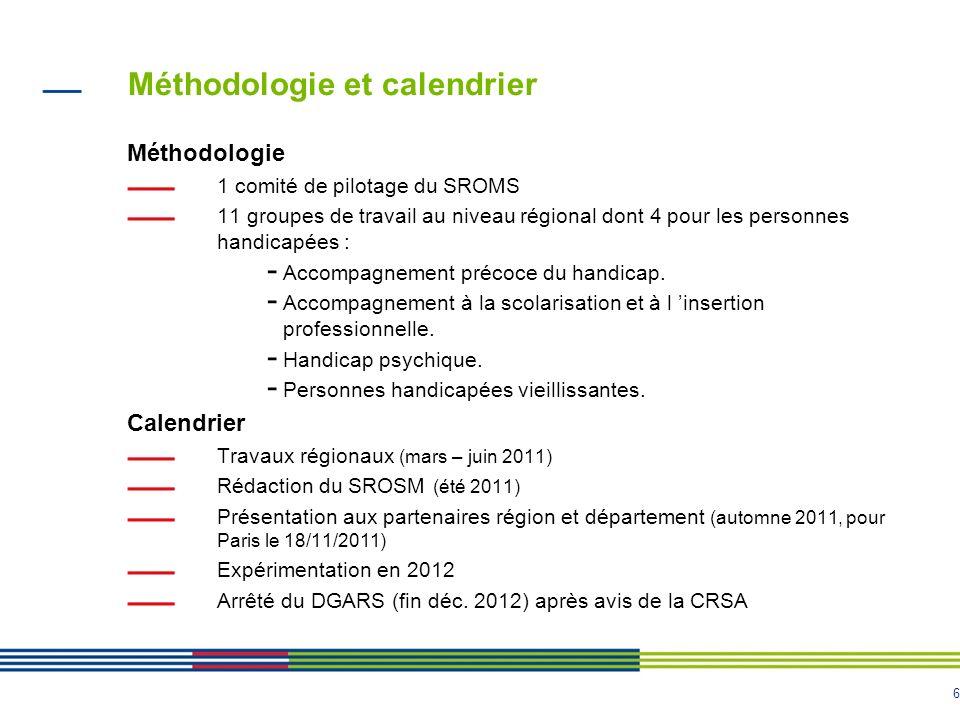 Méthodologie et calendrier