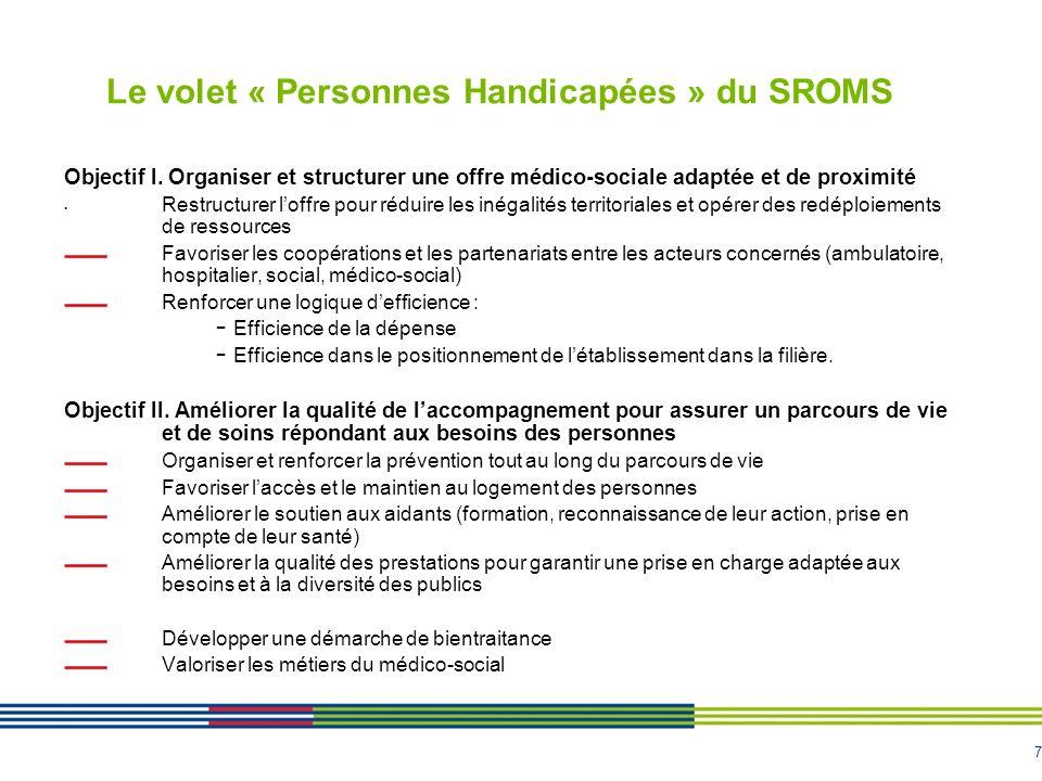 Le volet « Personnes Handicapées » du SROMS