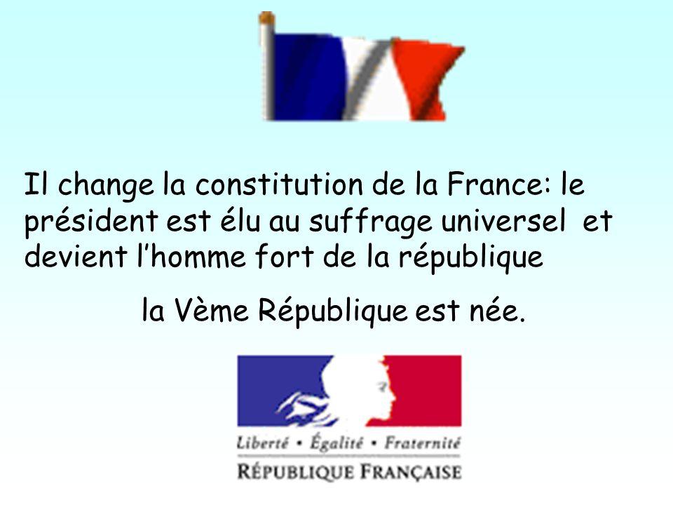 la Vème République est née.
