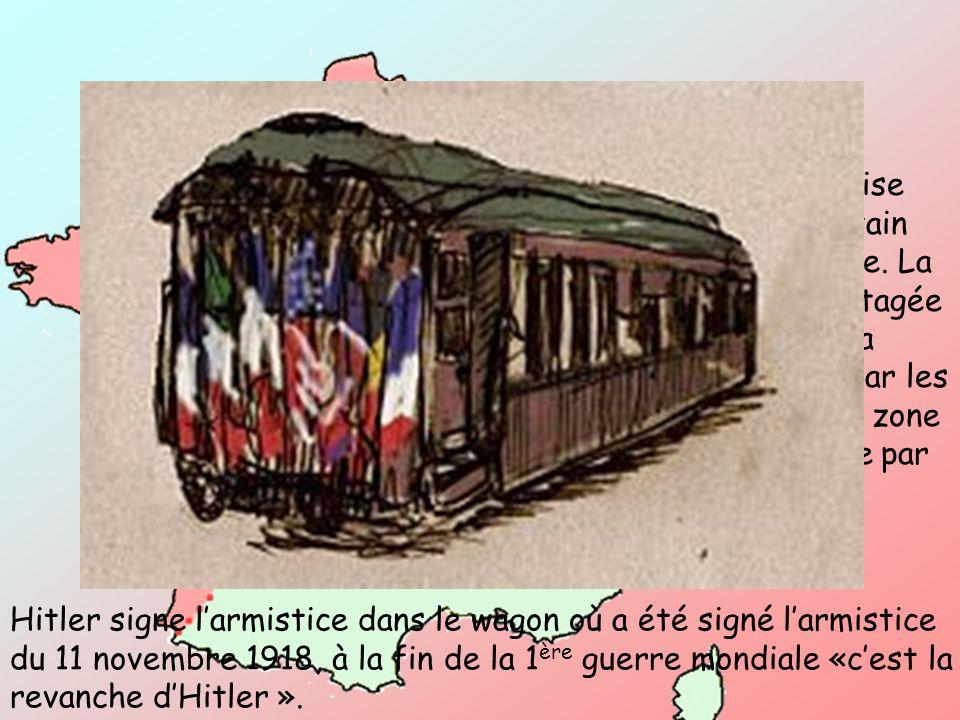 L'armée française est battue. Pétain signe l'armistice