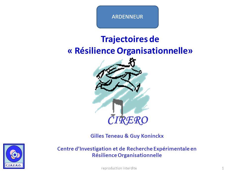 Trajectoires de « Résilience Organisationnelle»