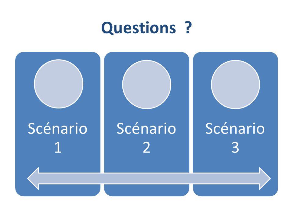 Questions Scénario 1 Scénario 2 Scénario 3