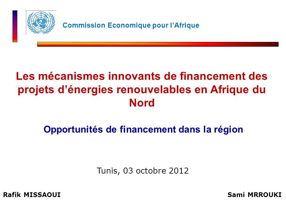 Opportunités de financement dans la région