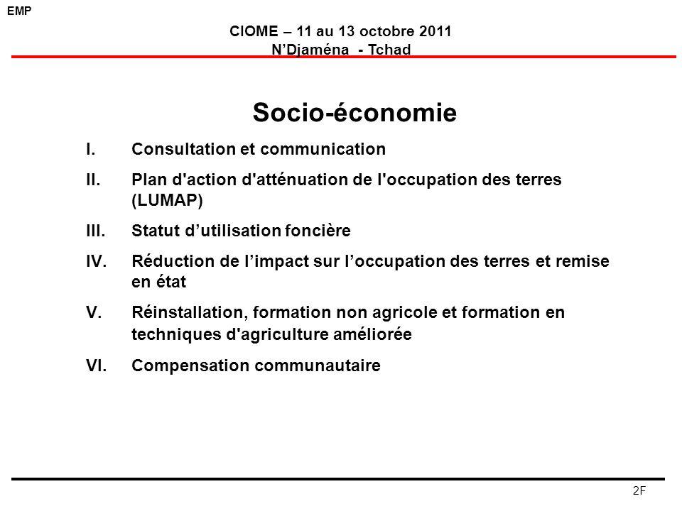 Socio-économie Consultation et communication