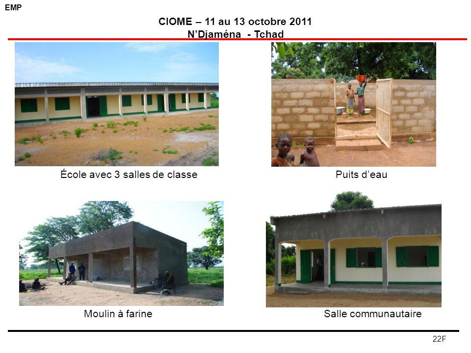 École avec 3 salles de classe