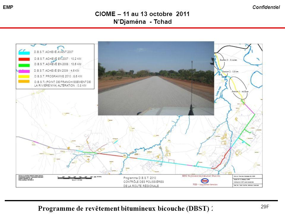 Programme de revêtement bitumineux bicouche (DBST) 2011