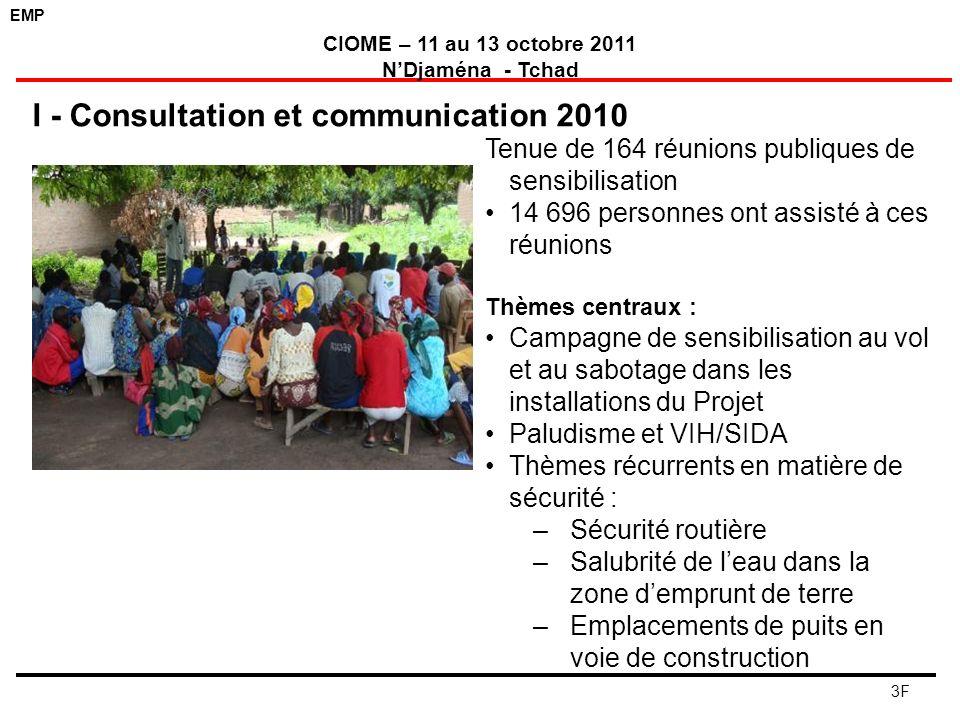 I - Consultation et communication 2010