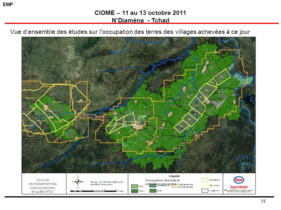 Zone de développement des champs pétroliers Enquête OFDA