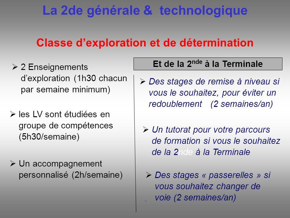 La 2de générale & technologique