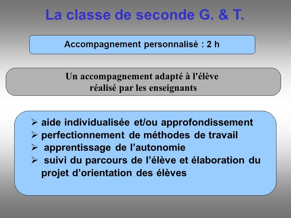 La classe de seconde G. & T.