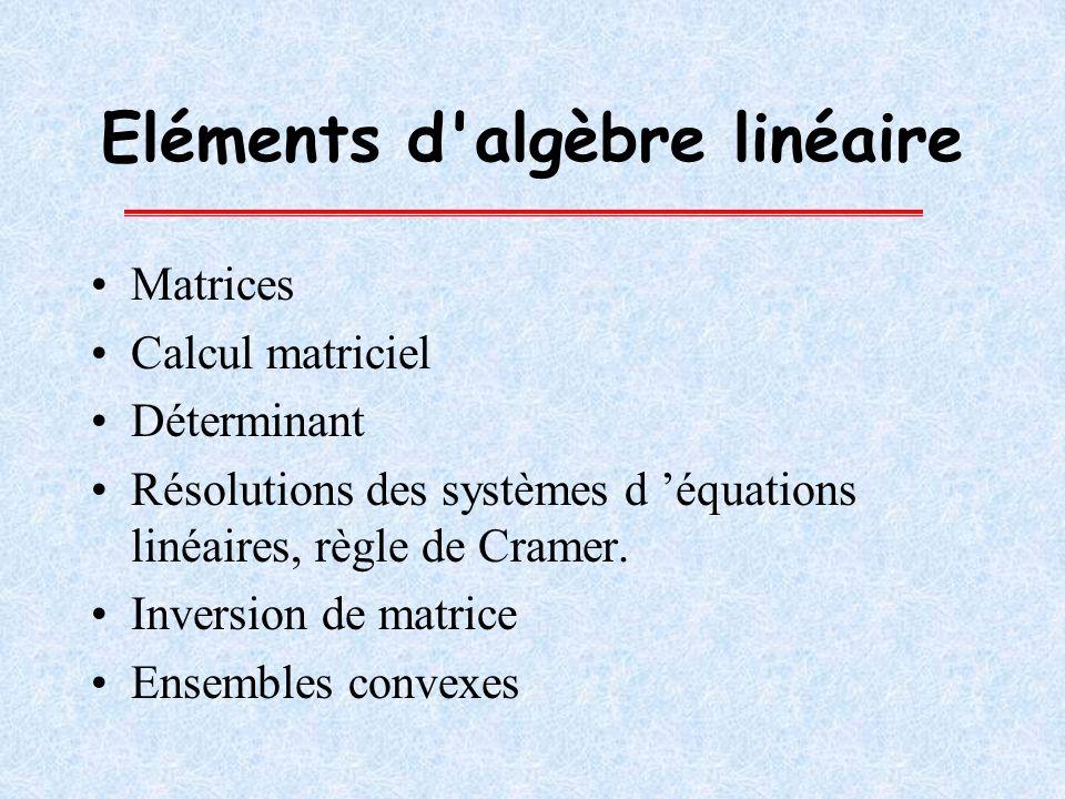 Eléments d algèbre linéaire