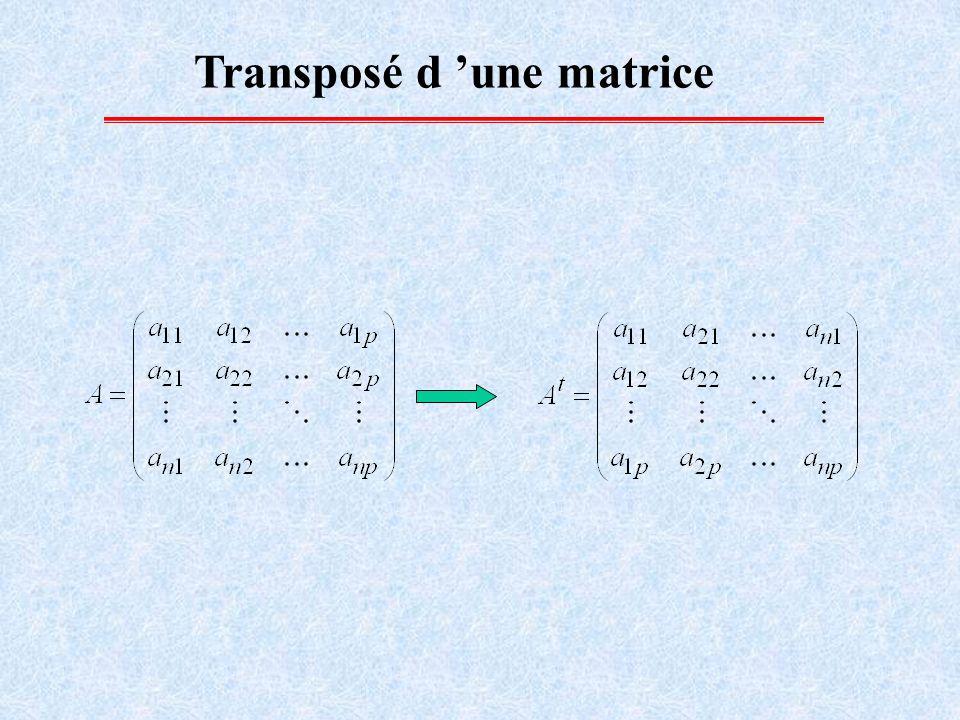 Transposé d 'une matrice