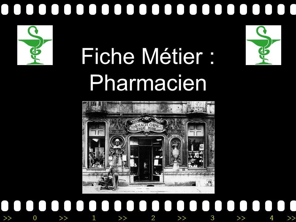Fiche Métier : Pharmacien