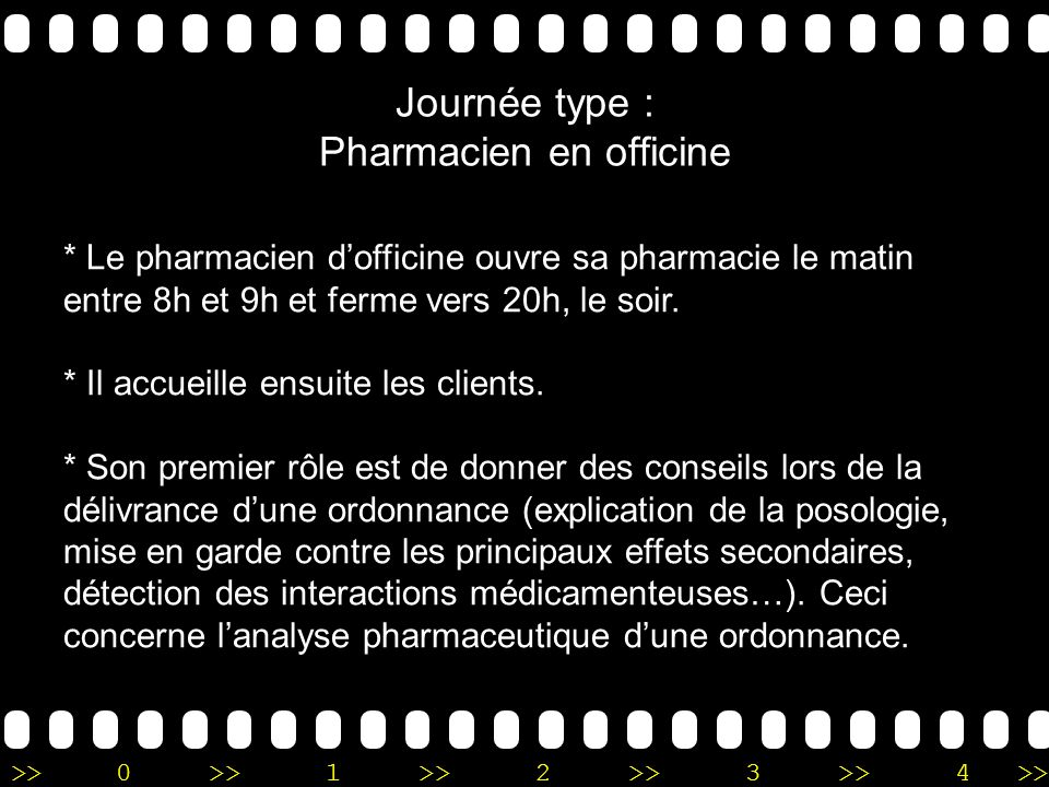 Journée type : Pharmacien en officine