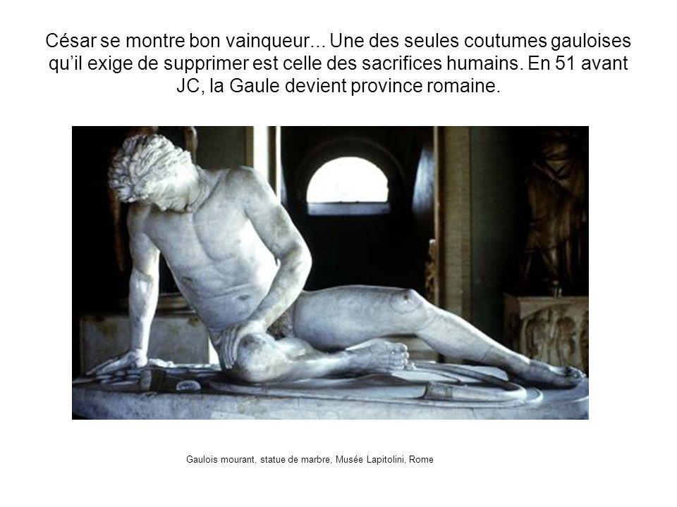 Gaulois mourant, statue de marbre, Musée Lapitolini, Rome
