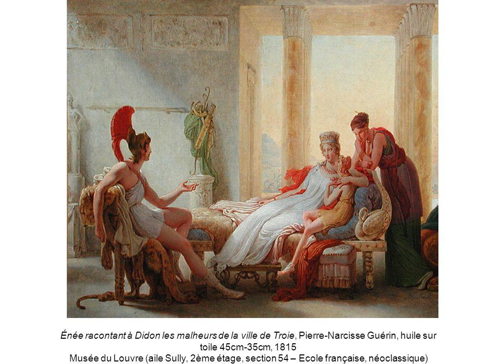 Énée racontant à Didon les malheurs de la ville de Troie, Pierre-Narcisse Guérin, huile sur toile 45cm-35cm, 1815