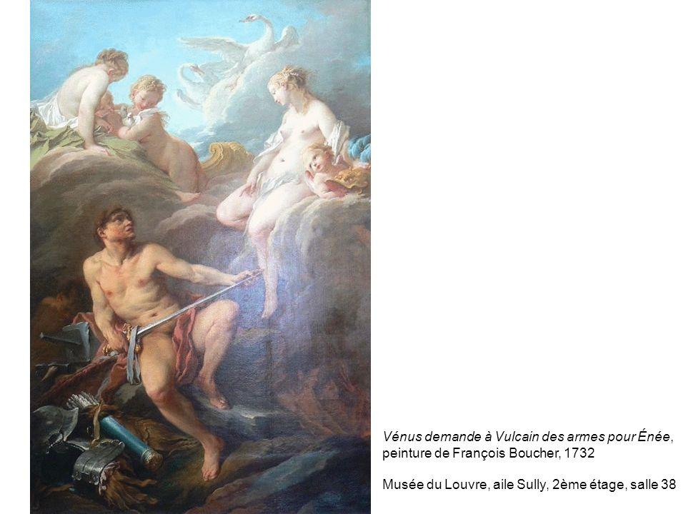 Vénus demande à Vulcain des armes pour Énée, peinture de François Boucher, 1732