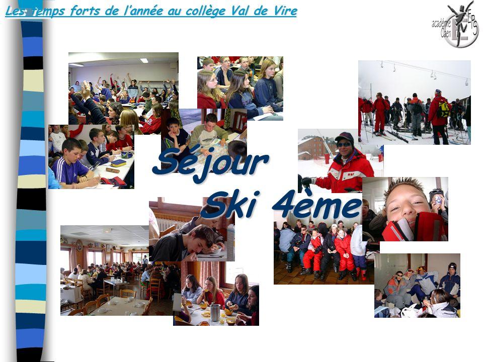 Les temps forts de l'année au collège Val de Vire