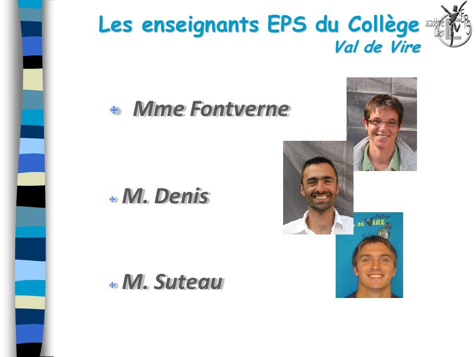 Les enseignants EPS du Collège Val de Vire