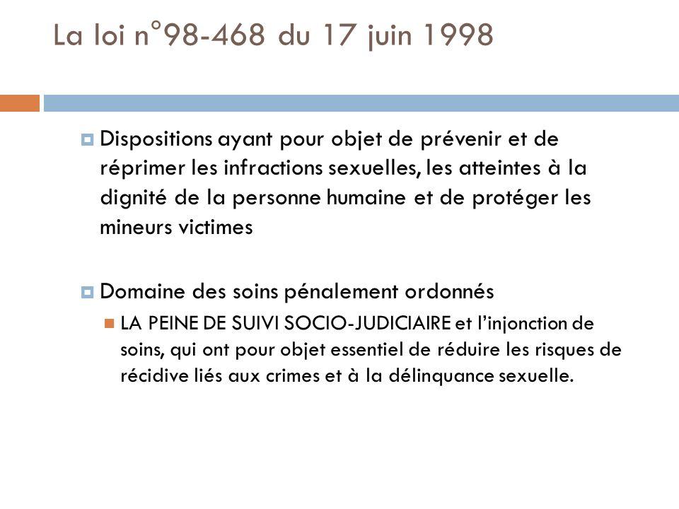 La loi n°98-468 du 17 juin 1998