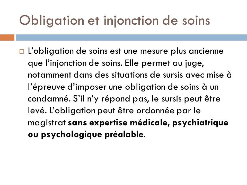 Obligation et injonction de soins