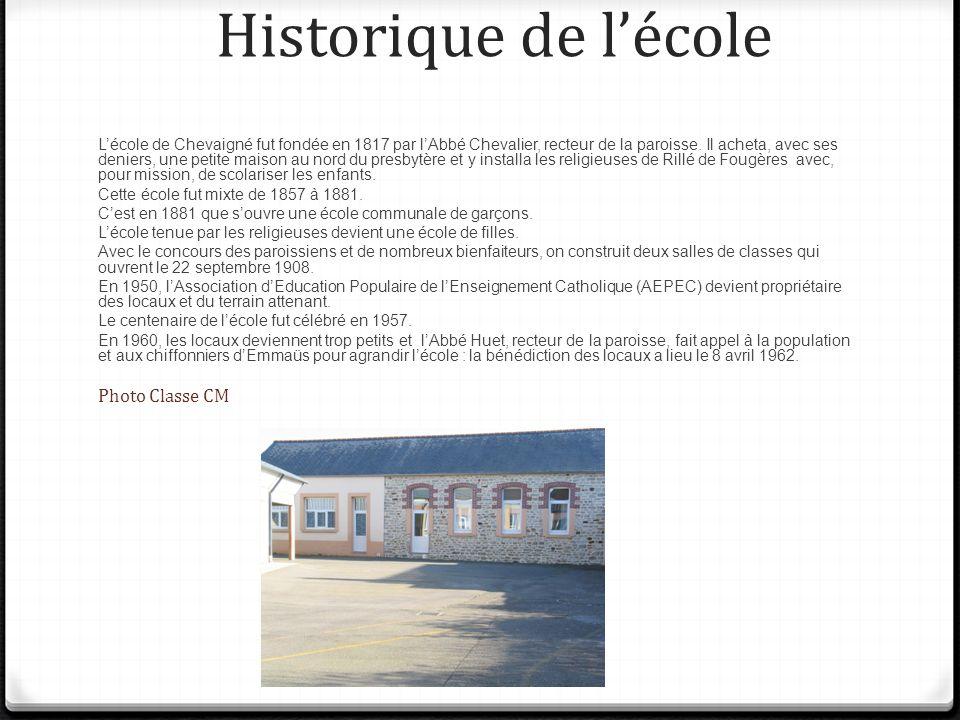 Historique de l'école Photo Classe CM