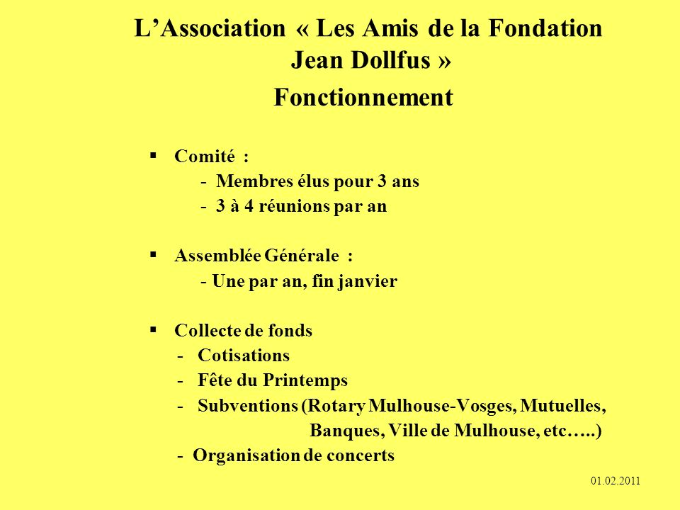 L'Association « Les Amis de la Fondation Jean Dollfus »