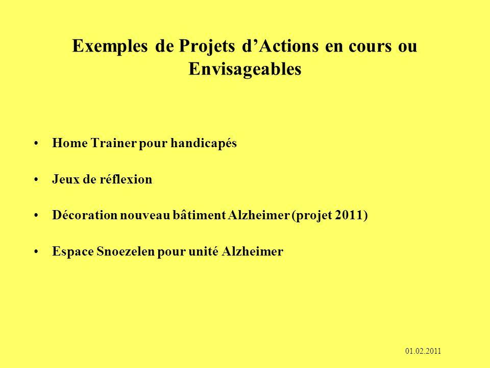 Exemples de Projets d'Actions en cours ou Envisageables