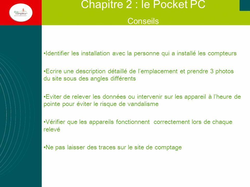 Chapitre 2 : le Pocket PC Conseils