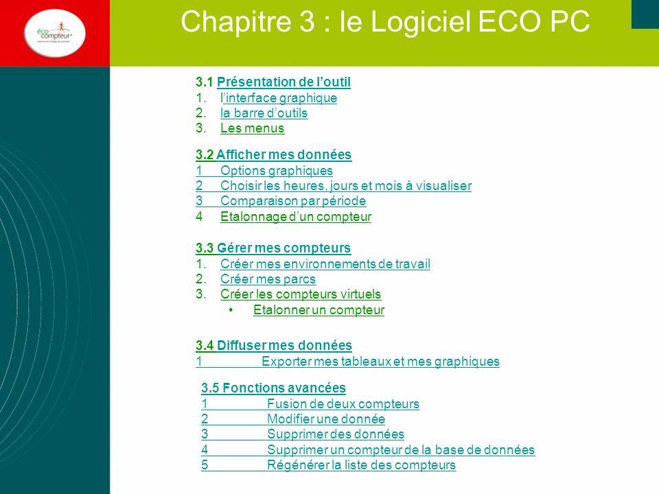 Chapitre 3 : le Logiciel ECO PC