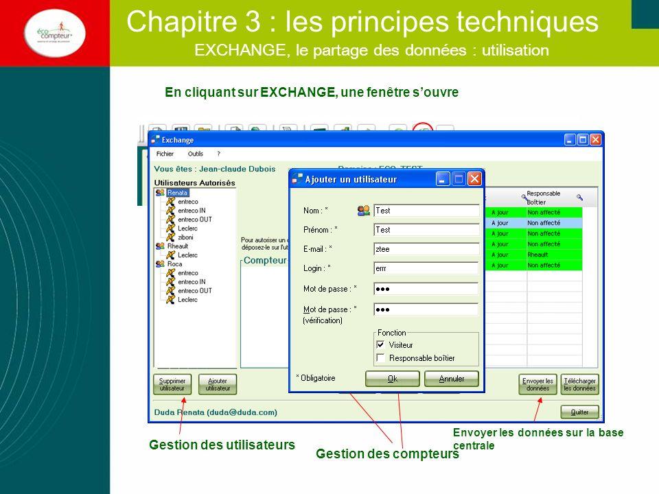 EXCHANGE, le partage des données : utilisation