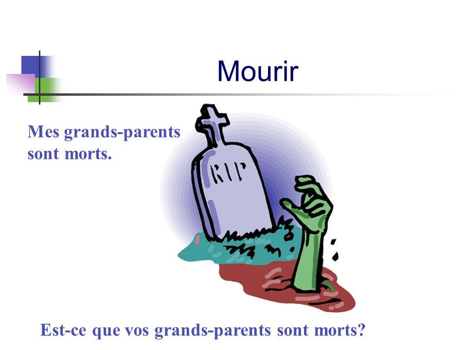 Est-ce que vos grands-parents sont morts