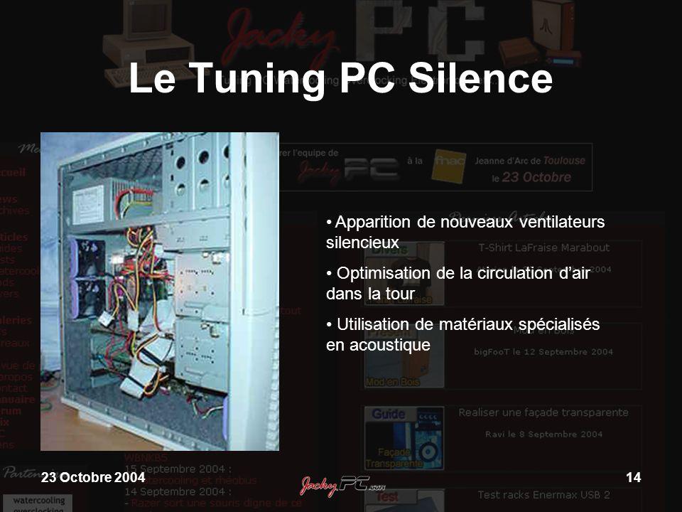 Le Tuning PC Silence Apparition de nouveaux ventilateurs silencieux