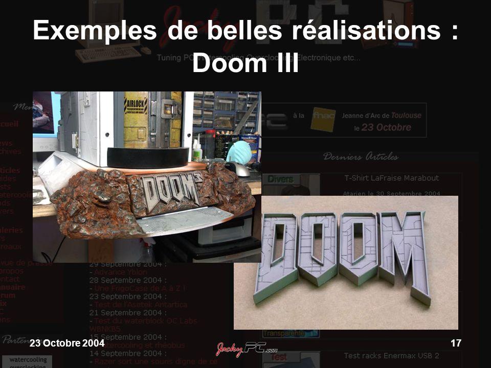 Exemples de belles réalisations : Doom III