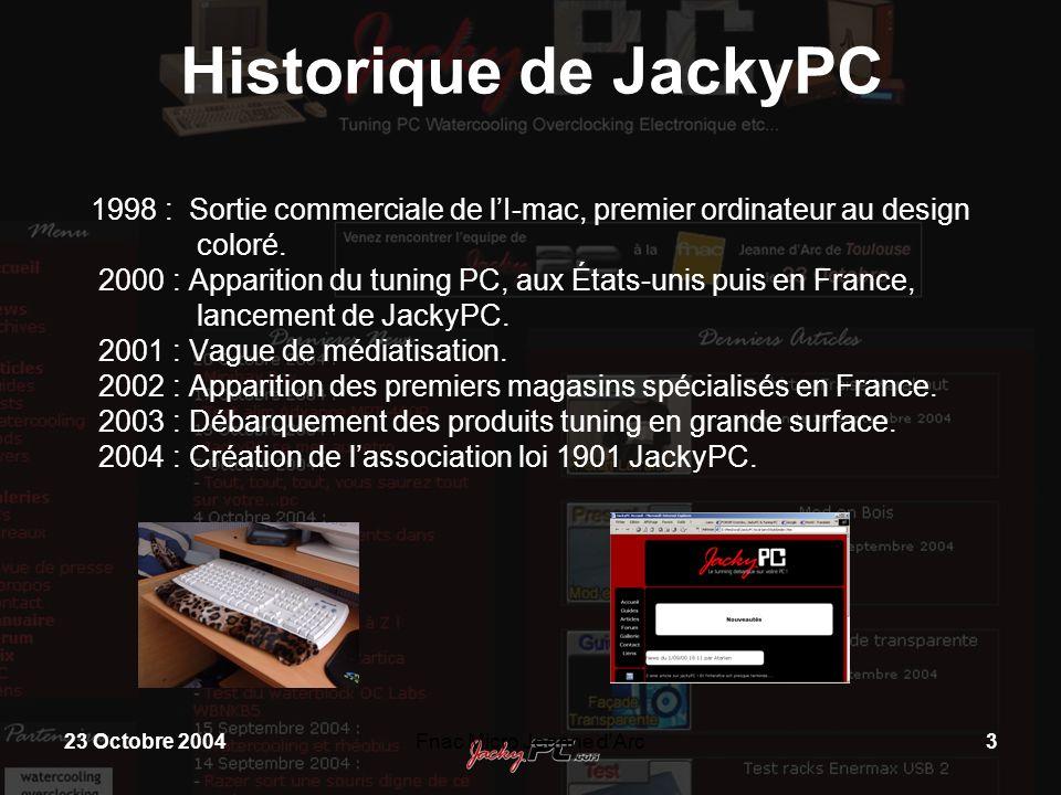 Historique de JackyPC. 1998 : Sortie commerciale de l'I-mac, premier ordinateur au design coloré.
