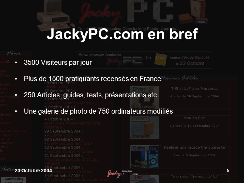 JackyPC.com en bref 3500 Visiteurs par jour