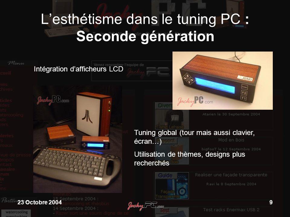L'esthétisme dans le tuning PC : Seconde génération