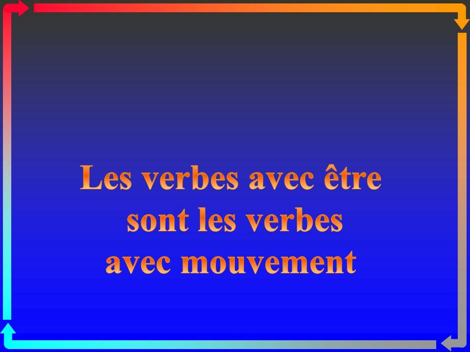 Les verbes avec être sont les verbes avec mouvement