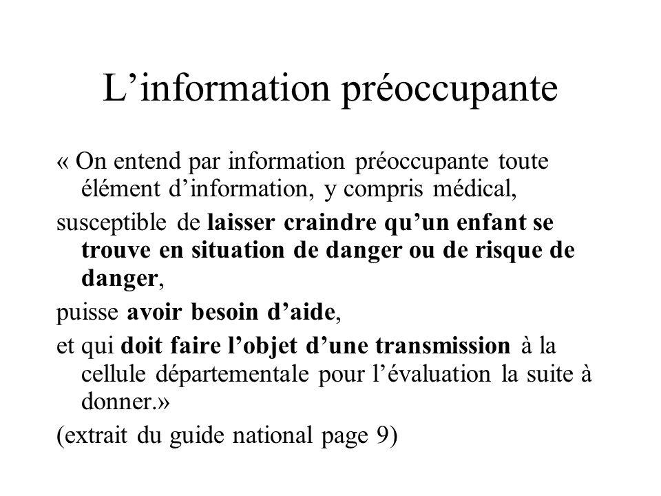 L'information préoccupante