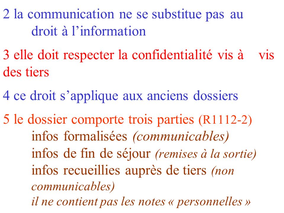 2 la communication ne se substitue pas. au