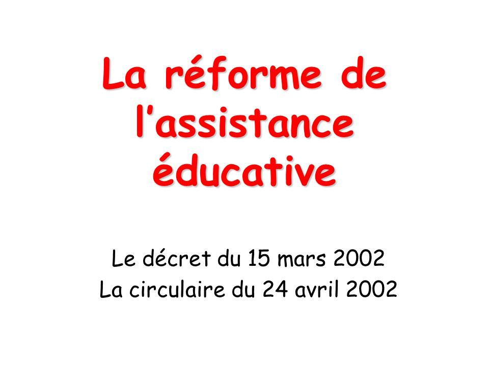La réforme de l'assistance éducative
