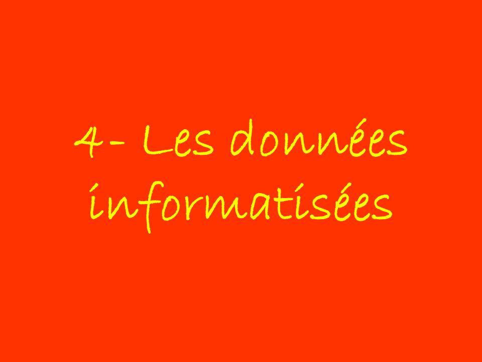 4- Les données informatisées