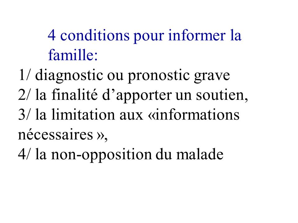 4 conditions pour informer la