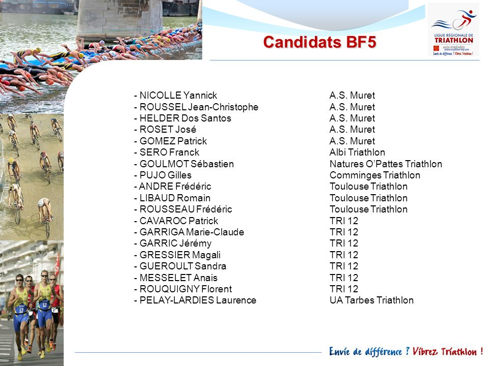 Candidats BF5 NICOLLE Yannick A.S. Muret