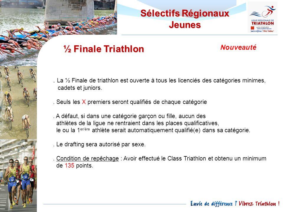 Sélectifs Régionaux Jeunes ½ Finale Triathlon