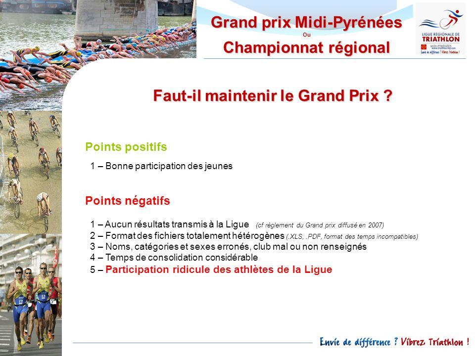 Grand prix Midi-Pyrénées Faut-il maintenir le Grand Prix