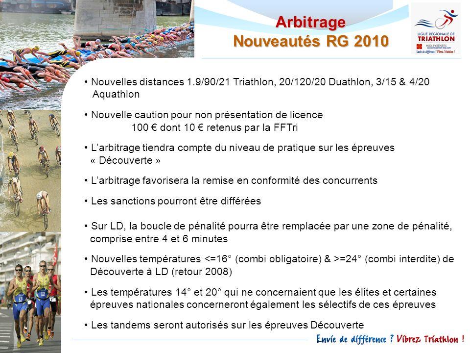 Arbitrage Nouveautés RG 2010