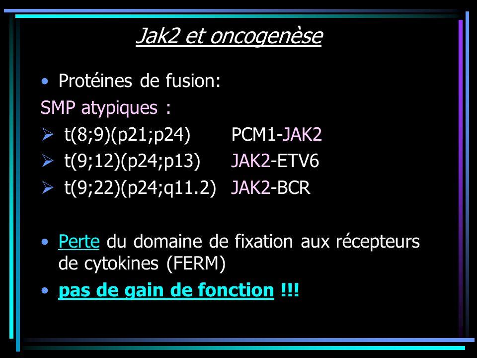 Jak2 et oncogenèse Protéines de fusion: SMP atypiques :
